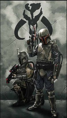 Star Wars Art.  Mandalorian. people tell me i look like these guys