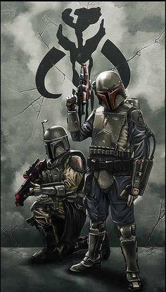 Star Wars Art.  Mandalorian. people tell me i look like these guys