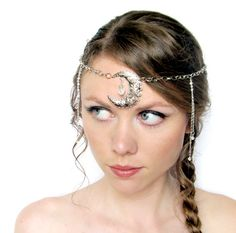 Moon Goddess Circlet in Silver via Etsy