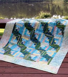 Fly Away With Me Curvy Log Cabin Quilt Pattern by Cut Loose Press and Natural Comforts Quilting