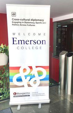 """Pancarta. Summit Emerson Blanquerna 2017. """"Cross-cultural diplomacy"""" Facultat de Comunicació i Relacions Internacionals Blanquerna. design #university #Blanquerna"""