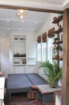 Tiny House Movement, Meet Handcrafted Movement, and Prepare to Swoon! Small Room Design, Tiny House Design, Tiny House Plans, Tiny House On Wheels, Tiny House Living, Small Living, Living Room, Tiny House Storage, Warm Home Decor