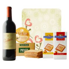 Surefire winner Uncovered with this medium-bodied California Merlot by Parducci. A perfect match for the crackers, cheese spread