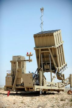 Israel's Iron Dome. Capable of shooting deadly Hamas rockets out of mid air protecting the civilians that Hamas and other terror organizations in the Gaza Strip target. Witnessed one of these firing when I was over there. May have saved my life.