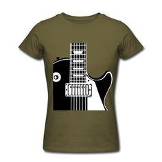 E-Gitarre, Guitar T-Shirt. Elektrischer Gitarren Body, für Musiker Band. Rocker Liedgitarristen Leadguitar, Solisten, Jazz, Rock, Pop,