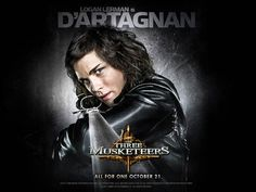 Logan Lerman as D'artagnan