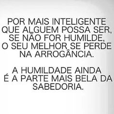 #sabedoria #humildade #vida