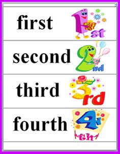 Classroom Freebies: Ordinal Numbers Freebie