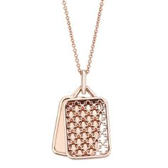 BIRKS Muse Collection, Engravable Rectangular Pendant, in Rose Gold Sapphire Jewelry, Opal Jewelry, Luxury Jewelry, Fine Jewelry, Locket Design, Jewelry Design, Djula Jewelry, Initial Pendant Necklace, Jewelry Collection