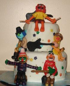 Teeth and the Electric Mayhem Muppet cake Tooth Cake, Birthday Parties, Birthday Cake, Little Man, Fascinator, Cake Ideas, Kendall, Einstein, Teeth