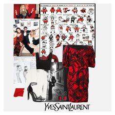 """La Vilaine Lulu - Cartoons and Illustrations of Yves Saint Laurent"" by bklou ❤ liked on Polyvore featuring Yves Saint Laurent and vintage"
