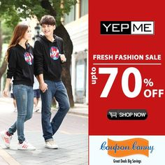Fresh #fashion #Sale : Upto 70% OFF at #Yepme Claim Now : http://www.couponcanny.in/yepme-coupons/