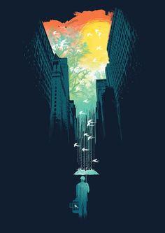 #Illustration. I Want My Blue Sky by Budi Satria Kwan.