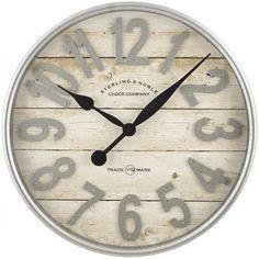 Buy Better Homes & Gardens Farmhouse Plank with Galvanized Finish Wall Clock Farmhouse Wall Clocks, Country Farmhouse Decor, Farmhouse Style, Modern Farmhouse, Farmhouse Mantel, Farmhouse Office, Shabby Chic Farmhouse, Cottage Farmhouse, White Farmhouse