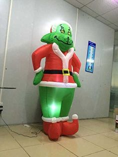 Generi 2m Inflatable Christmas Grinch Green