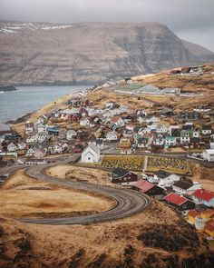 the road to eidi in love with the picturesque villages in the faroes.#visitfaroeislands #Regram via @adampartridge