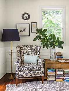 pretty reading nook via Halcyon Style
