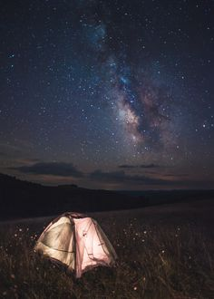 tent + starry sky | camping + outdoors #adventure