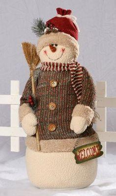 Glitter Plush Snowman