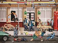 Shaun Of The Dead, Streets Of Rage style.