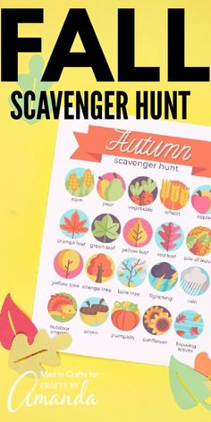 Help your kids appreciate the beauty of autumn with this printable fall scavenger hunt. You can even add a prize for whoever finds the most! #scavengerhunt #kidscrafts #fall #fallkidscrafts #naturecrafts #parenting #boredombuster #craftsbyamanda Autumn Activities For Kids, Holiday Crafts For Kids, Crafts For Teens, Preschool Crafts, Fun Crafts, Fall Festival Games, Blog Food, Valentine's Day Printables, Classroom Fun
