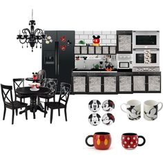 """Mickey Mouse Kitchen"" by elli951 on Polyvore My favorite things on the planet are disney kitchenware!!"