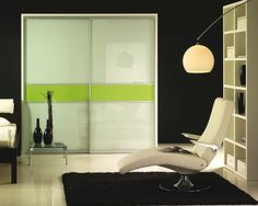 Aluminum-framed doors with backpainted glass. These have been popular!