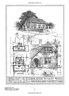 100 Turn-of-the-Century Brick Bungalows with Floor Plans (Dover Architecture): Rogers & Manson: 9780486281193: Amazon.com: Books