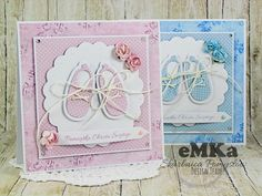 Skarbnica Pomysłów: Kartki na Chrzest Chloes Creative Cards, Baby Shower Souvenirs, New Baby Cards, Baby Christening, Welcome Baby, Baby Scrapbook, Kids Cards, Cute Cards, Invitation Cards