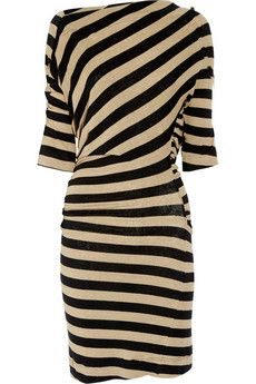 Vivienne Westwood Anglomania, Arianna striped stretch-linen dress