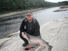big salmon frome Namsen in Norway. 8 kg 17 lbs