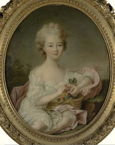Portrait of a young Marie Louise of Savoy, Princesse de Lamballe.Source