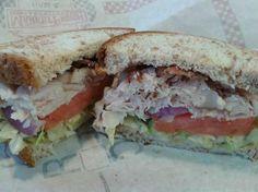 Turkey Ranch Bacon Market Fresh Sandwich (minus the Ranch, minus the Cheddar) @ Arby's.  $ 6.95 plus tax or so...