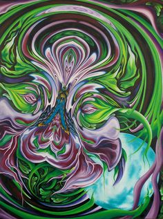 """""""Bloom"""", Oil on Canvas, 40"""" x 30"""", July 2014"""