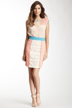 Flying Tomato & More  Champagne & Strawberry Lace Dress  $69.00  $140.00 51% off