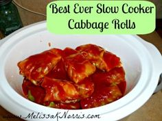 Thanks to my Aunt I'm trying this recipe! Yum! Pioneering Today Slow Cooker Cabbage Rolls Recipe « Melissa K. Norris