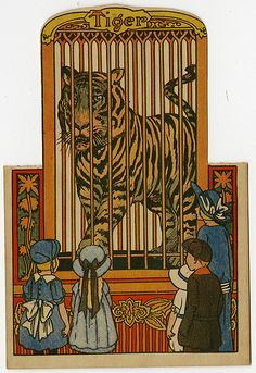 Vintage Tiger Circus Card, 1922