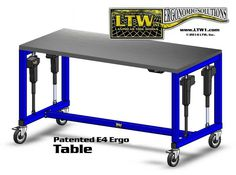 LTWu0027s Electric Height Adjustable Industrial Machine E4 / E4H Ergonomic  Tables Are The Heavy Weights