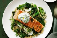 Chariots of Fire & Grilled Salmon and Quinoa recipe