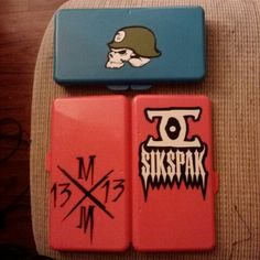 Stickers on wet one cases