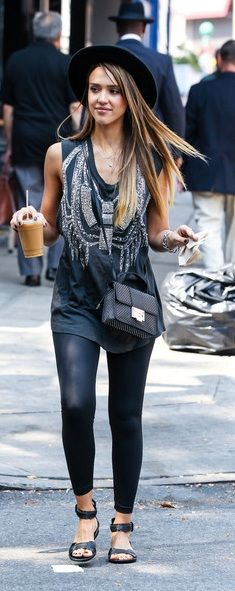 Jessica Alba, edgy yet comfy loving it