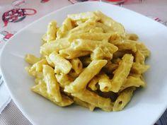 Penne con merluzzo al curry e crema di cavolfiore Macaroni And Cheese, Curry, Ethnic Recipes, Food, Fantasy, Cream, Mac And Cheese, Kalay, Curries