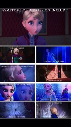 The writers said Elsa is a metaphor for depression. OK ILL JUST GO SOB IN THE CORNER NOW