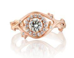 bramble diamond halo ring