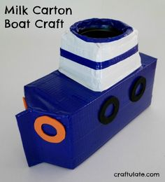 This milk carton boat is a fun craft that the kids will love!