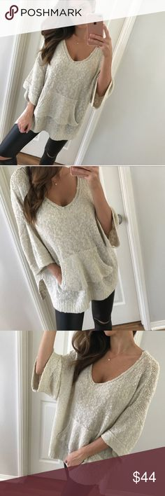 Knit Sweater @mrsalliexo New without tags. Pictures and description are @mrsalliexo. Price is firm Sweaters Shrugs & Ponchos