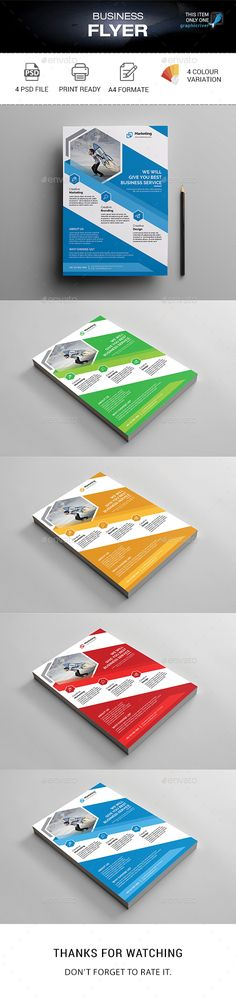 #Business #Flyer - Corporate Flyers Download here: https://graphicriver.net/item/business-flyer/20134317?ref=alena994