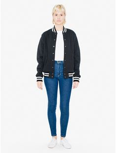 ada5dc219d4f1b Unisex Heavy Terry Club Jacket Sweater Jacket, My Wardrobe, Androgynous,  American Apparel,