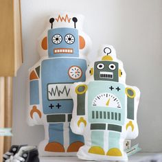 ferm LIVING Mr. Robot Organic Cotton Pillow | AllModern