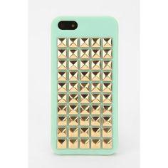 Pyramid-Stud Iphone 5 Case ($28) ❤ liked on Polyvore